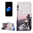 For iPhone 7 Plus Bicycle PU Leather Case with Holder, CB Slots & Wallet
