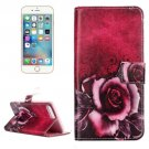 For iPhone 7 Plus Rose Flip Leather Case with Holder & Card Slots & Wallet