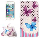 For iPhone 7 Plus Butterflies Flip Leather Case with Holder & Card Slots & Wallet