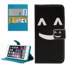 For iPhone 7 Plus Smiling Flip Leather Case with Holder & Card Slots & Wallet
