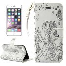 For iPhone 7 Plus White Girl Leather Case with Holder & Card Slots & Wallet
