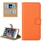 For iPhone 7 Plus Orange Geniune Leather Case with Holder, Card Slots & Wallet