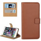 For iPhone 7 Plus Brown Geniune Leather Case with Holder, Card Slots & Wallet