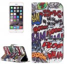 For iPhone 7 Plus Graffiti Leather Case with Holder, Card Slots & Wallet
