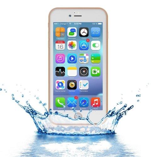 For iPhone 7 Plus Gold Tridimensional Diamond Waterproof TPU + PC Case