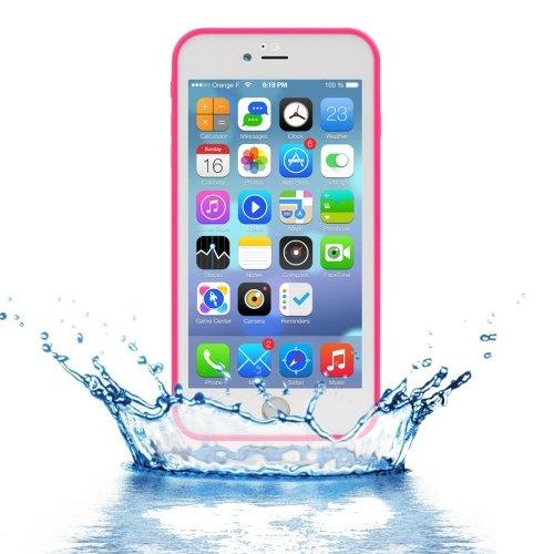 For iPhone 7 Plus Magenta Tridimensional Diamond Waterproof TPU + PC Case