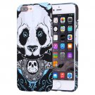 For iPhone 7 Plus Water Decals Cartoon Animal Panda Pattern PC Case