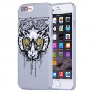 For iPhone 7 Plus Water Decals Cartoon Animal Fox Pattern PC Case