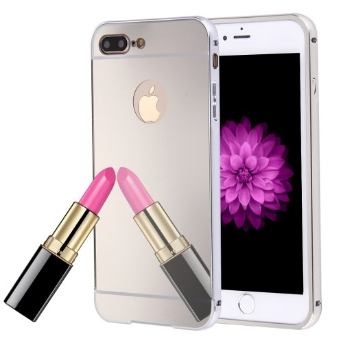 For iPhone 7 Plus Silver Separable Electroplating Mirror Push Pull PC Case
