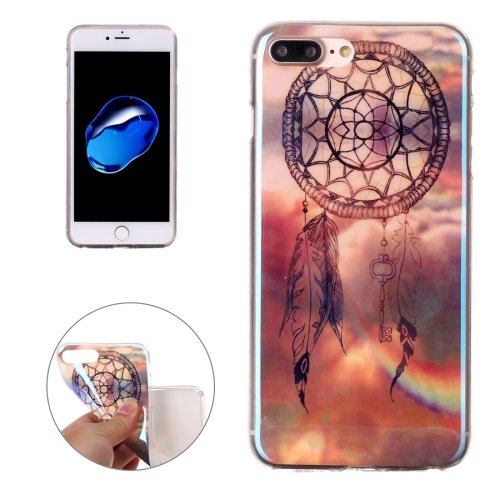 For iPhone 7 Plus Magic Dream Pattern Blue-ray TPU Soft Back Cover Case