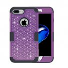For iPhone 7 Plus Purple Diamond PC + Silicone Combination Case