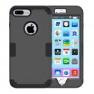 For iPhone 7 Plus Separable Black color PC + Silicone Combination Case