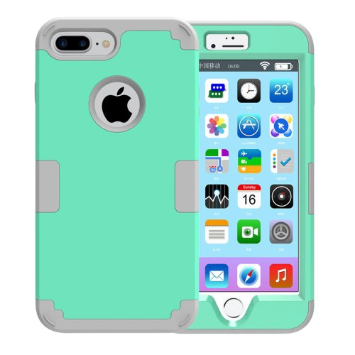 For iPhone 7 Plus Separable Green color PC + Silicone Combination Case
