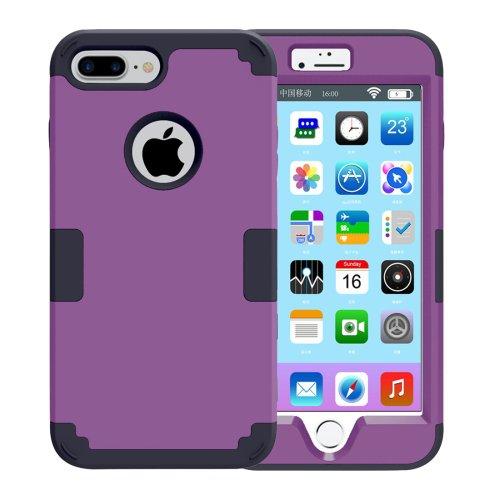 For iPhone 7 Plus Separable Purple color PC + Silicone Combination Case