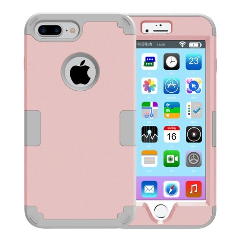 For iPhone 7 Plus Separable Rose Gold color PC + Silicone Combination Case