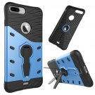For iPhone 7 Plus Blue Tough Armor TPU+PC Rotating Spin Case with Holder