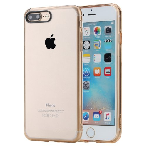 For iPhone 7 Plus Gold Rock Pure Concise Style Ultrathin Combination Case