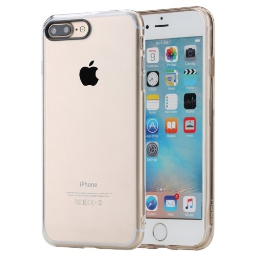 For iPhone 7 Plus Transparent Rock Pure Concise Style Ultrathin Combination Case