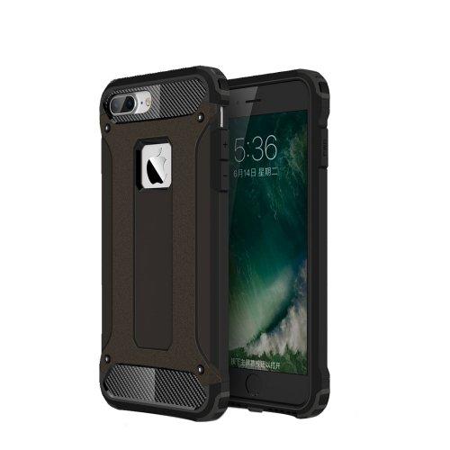 For iPhone 7 Plus Black Tough Armor TPU + PC Combination Case