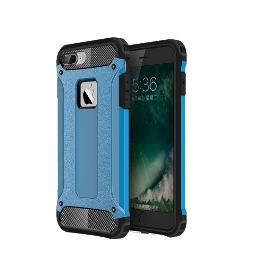 For iPhone 7 Plus Blue Tough Armor TPU + PC Combination Case