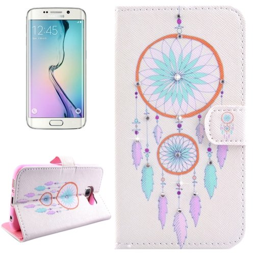 For Galaxy S6 Edge Windbell Leather Case with Holder, Wallet & Card Slots