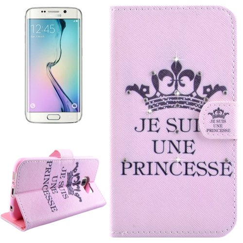 For Galaxy S6 Edge Princess Leather Case with Holder, Wallet & Card Slots