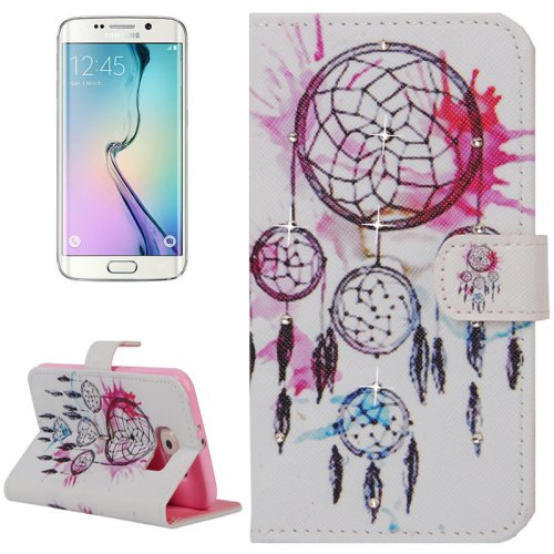 For Galaxy S6 Edge Dreamcatcher Leather Case with Holder, Wallet & Card Slots