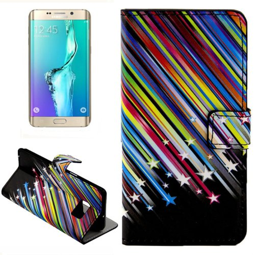 For Galaxy S6 Edge Meteor Leather Case with Holder, Wallet & Card Slots