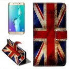 For Galaxy S6 Edge UK Flag Leather Case with Holder, Wallet & Card Slots