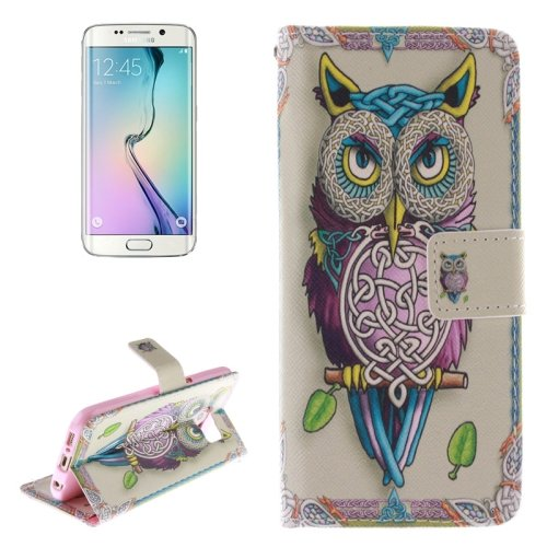 For Galaxy S6 Edge Owl Pattern Leather Case with Holder, Card Slot & Wallet
