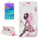 For Galaxy S6 Edge Rhinestone Pattern Leather Case with Holder & Wallet