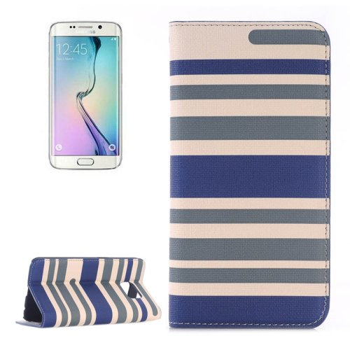 For Galaxy S6 Edge Color Matching Leather Case with Card Slots, Holder & Wallet