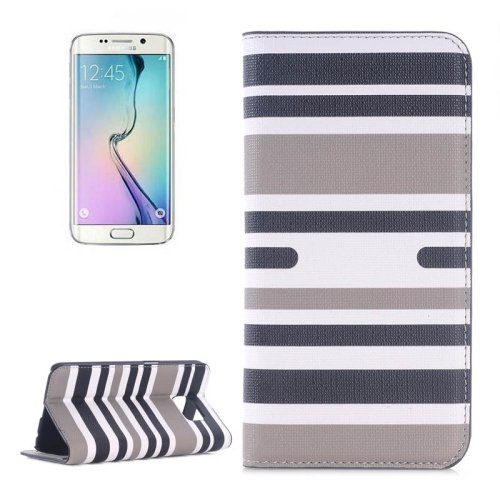 For Galaxy S6 Edge Color Matching 2 Leather Case with Card Slots, Holder & Wallet