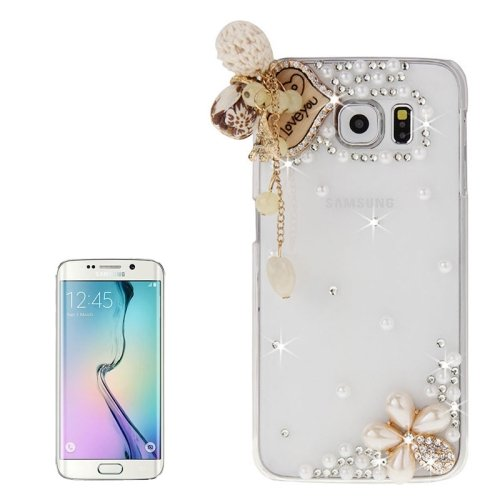 For Galaxy S6 Edge Diamond Encrusted LOVE Pattern Protective Case
