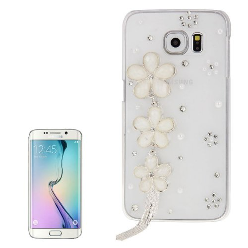 For Galaxy S6 Edge Diamond Encrusted Flower Pattern Protective Case