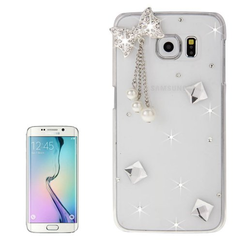 For Galaxy S6 Edge Diamond Encrusted Bowknot Pattern Protective Case