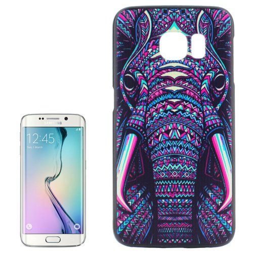 For Galaxy S6 Edge Elephant Pattern Plastic Hard Case
