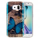 For Galaxy S6 Edge Butterfly Pattern Blu-ray Soft TPU Protective Case
