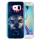 For Galaxy S6 Edge Lion Pattern Blu-ray Soft TPU Protective Case