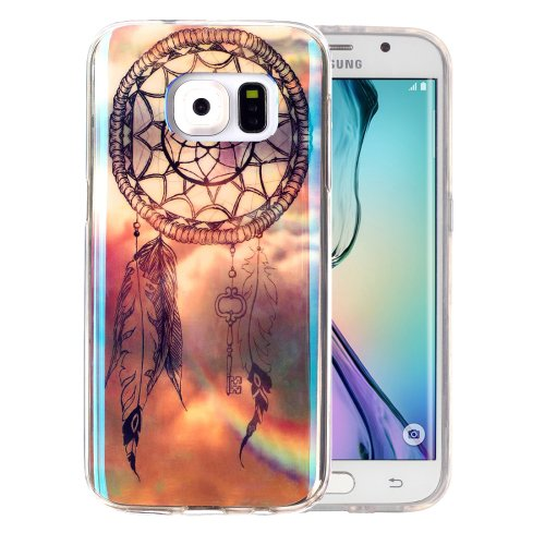 For Galaxy S6 Edge Dreamcatcher Pattern Blu-ray Soft TPU Protective Case