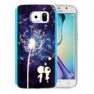 For Galaxy S6 Edge Dandelion Pattern Blu-ray Soft TPU Protective Case