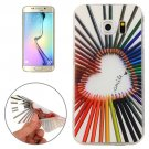 For Galaxy S6 Edge Color Pencil Pattern TPU Protective Case