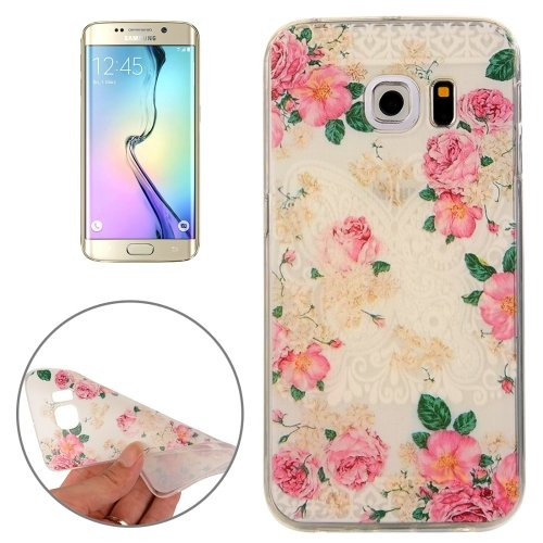 For Galaxy S6 Edge Flowers Pattern TPU Protective Case
