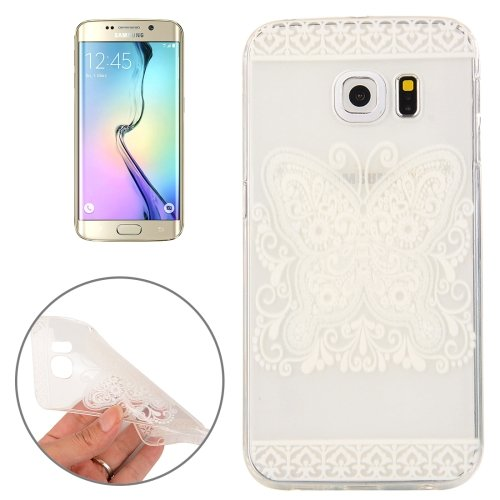 For Galaxy S6 Edge Butterfly Pattern TPU Protective Case