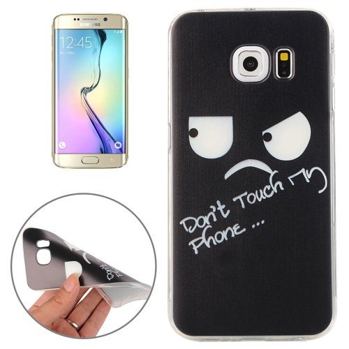 For Galaxy S6 Edge Don't Touch Pattern TPU Protective Case