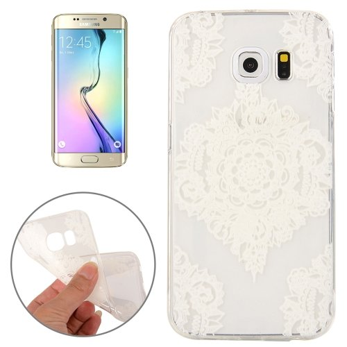 For Galaxy S6 Edge Flower Pattern TPU Protective Case