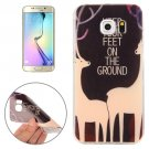 For Galaxy S6 Edge Sika Deer Words Pattern TPU Protective Case