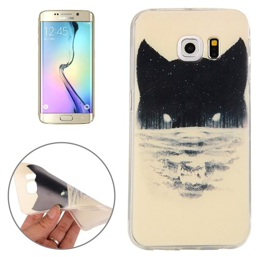 For Galaxy S6 Edge Abstract Wolf Pattern TPU Protective Case
