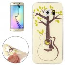 For Galaxy S6 Edge Tree and Bird Pattern TPU Protective Case