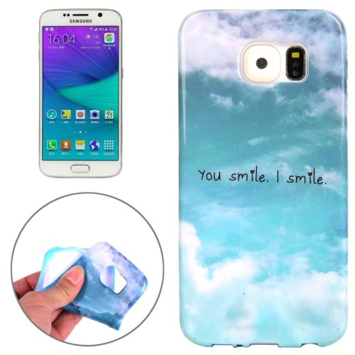 For Galaxy S6 Edge You Smile I Smile Pattern TPU Protective Case